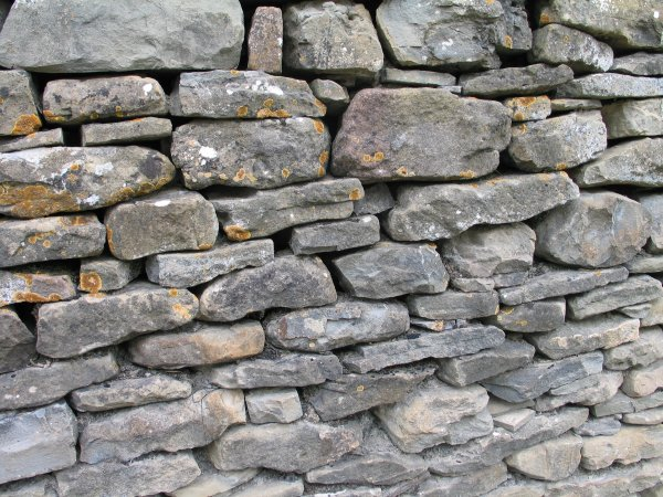 Forstøtningsmur i grense